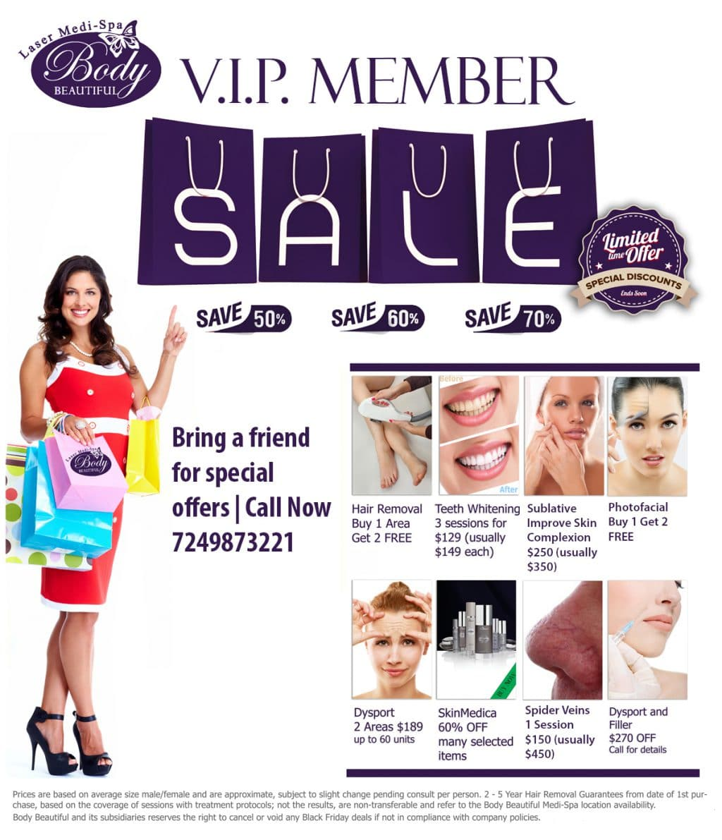 VIP Member deals, Body beautiful laser medi spa, cranberry twp pa, Latisse Product , Botox Cosmetic treatments, facial wrinkle treatments, Ultrasound treatments, Acne Awareness, Pittsburgh Medical Mall, medical providers network, medical providers, medical care providers network, medical supplies, deals, medical offers near me